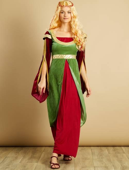 Costume principessa medievale                             verde