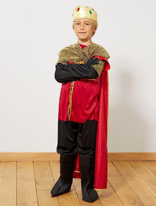 Costume re cavaliere                             nero/rosso