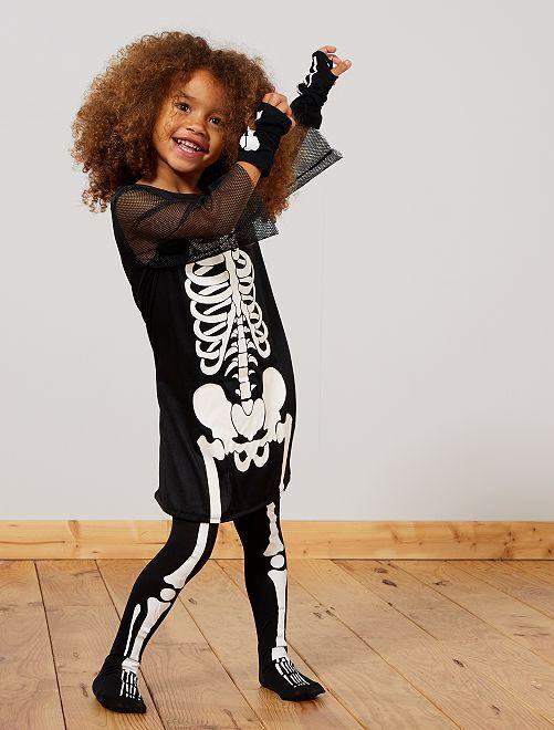 Costume scheletro                             nero/bianco