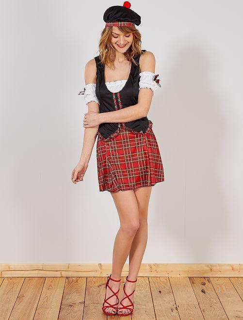 Costume scozzese                             nero/rosso