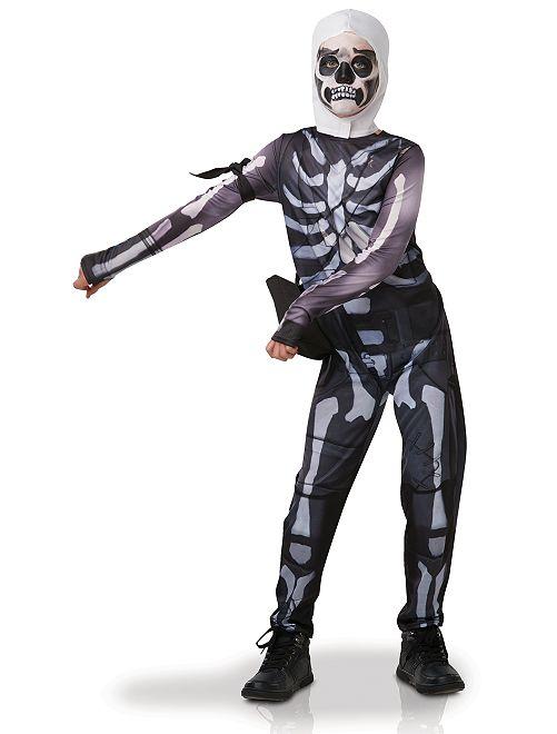 Costume 'Skull Trooper Fortnite'                             nero/bianco