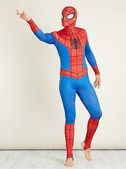Travestimenti uomo - Costume 'Spiderman' seconda pelle con cappuccio