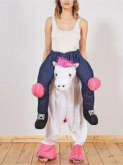 Travestimenti donna - Costume trompe l'oeil cavaliere su unicorno - Kiabi