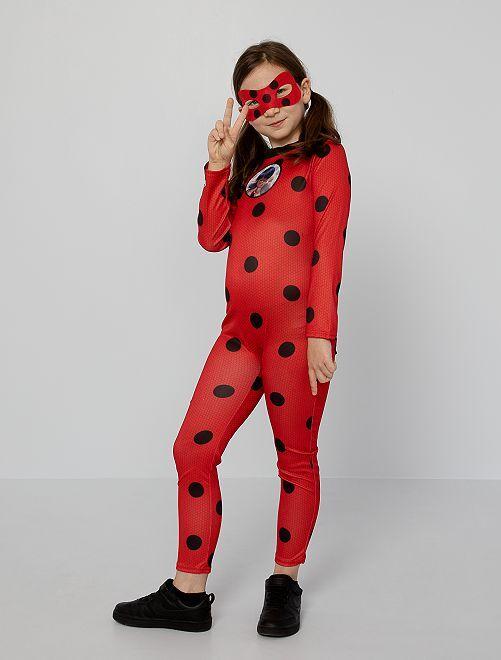 Costume tuta 'Miraculous'                             rosso/nero