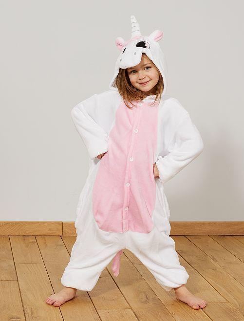 Costume unicorno                             bianco/rosa