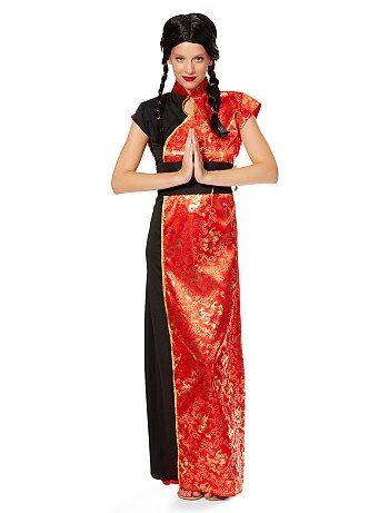 Costume vestito cinese tradizionale donna donna kiabi for Vestito tradizionale giapponese femminile