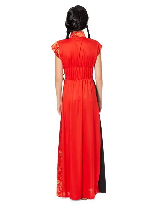 Costume vestito cinese tradizionale donna donna rosso for Vestito tradizionale giapponese femminile
