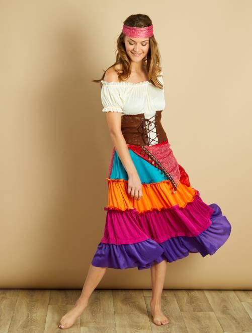 Costume zingara                             multicolore Donna