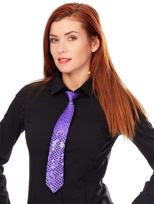 Cravatta con lustrini                                                                             viola