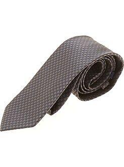 Accessori - Cravatta micromotivo cubico