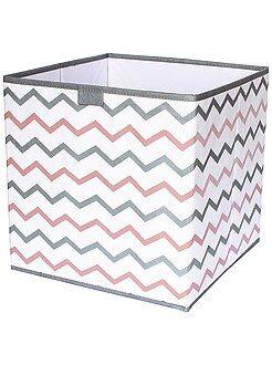 Sistemare - Cubo contenitore pieghevole stampa 'zig-zag' - Kiabi