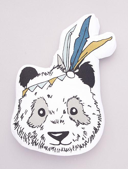 Cuscino forma 'panda'                             bianco