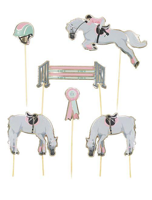 Decorazione per dolce 'equitazione'                             rosa/bianco