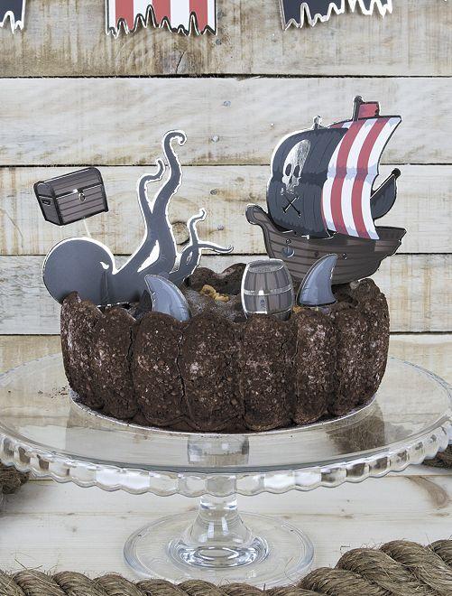 Decorazione per dolce 'pirati'!                             nero