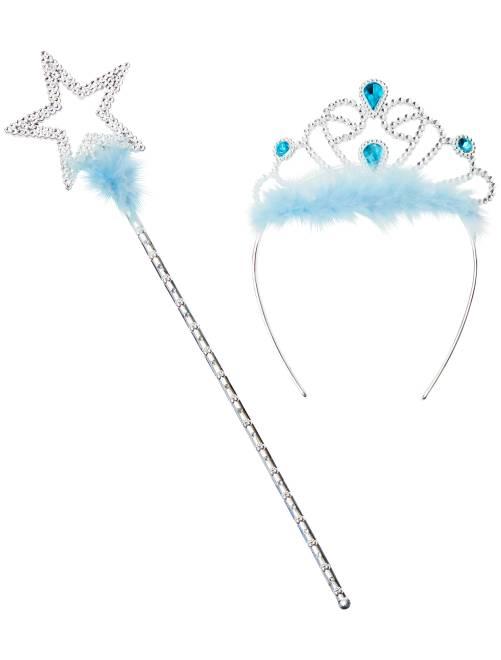 Diadema + bacchetta magica                                                     blu Bambini