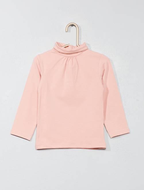 Dolcevita tinta unita                                                                 rosa chiaro Neonata