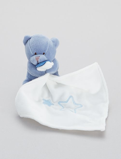 Doudou fazzoletto con orsetto 'Babynat'                                                                 blu