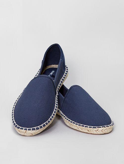 Espadrillas in tela                             blu navy