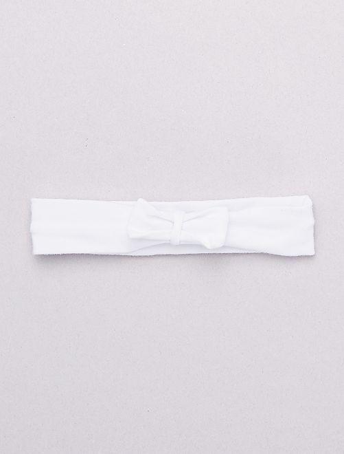 Fascia fiocco fantasia                                                                                                                     bianco Neonata