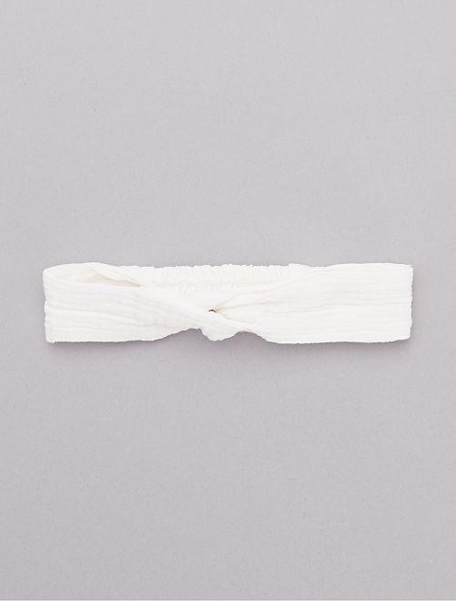 Fascia garza di cotone                             bianco Neonata