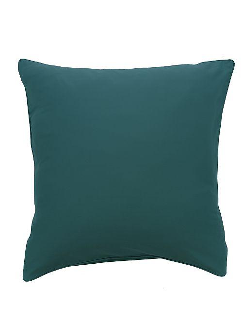 Federa per cuscino in raso di cotone                                                                                         BLU