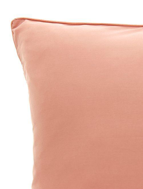 Federa per cuscino in raso di cotone                                                                                         ROSA
