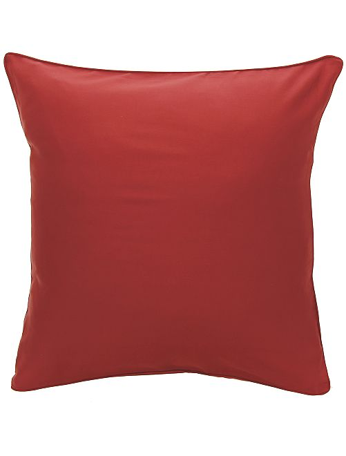 Federa per cuscino in raso di cotone                                                                                         ROSSO