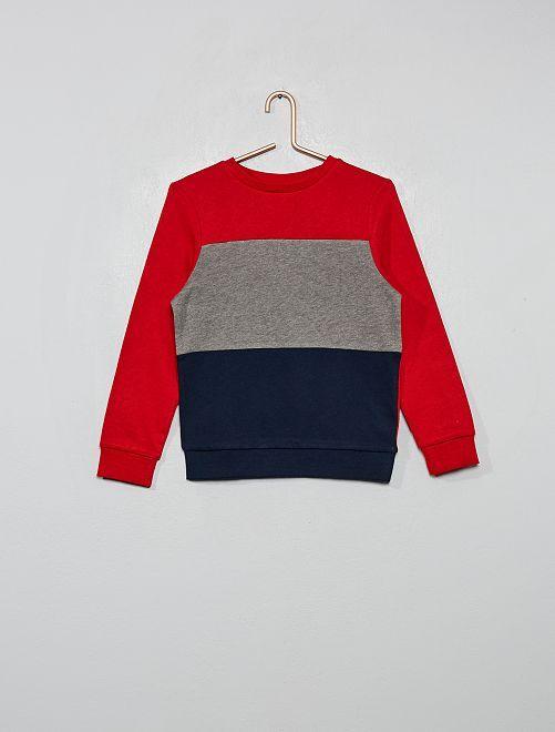 Felpa 'color block' tricolore                                                                 GRIGIO