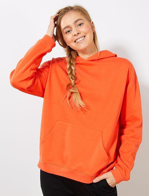 Felpa con cappuccio                                                                             arancio