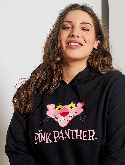 Felpa con cappuccio 'La Pantera rosa'                             nero
