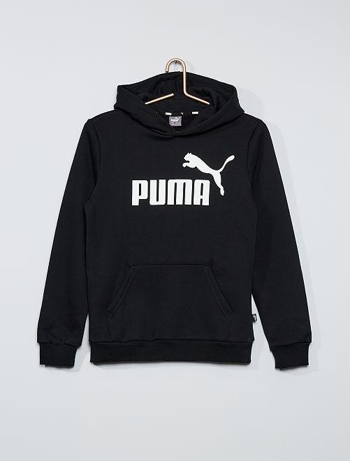 Felpa con cappuccio logo 'Puma'                             NERO