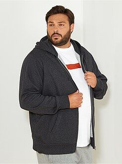 Felpe - Felpa con zip e cappuccio tessuto felpato leggero