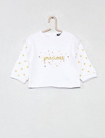 Bambina 0-36 mesi - Felpa cotone  precious  - Kiabi e49ca23d3a4a
