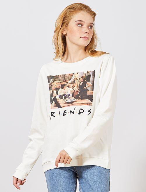 Felpa 'Friends'                             bianco neve