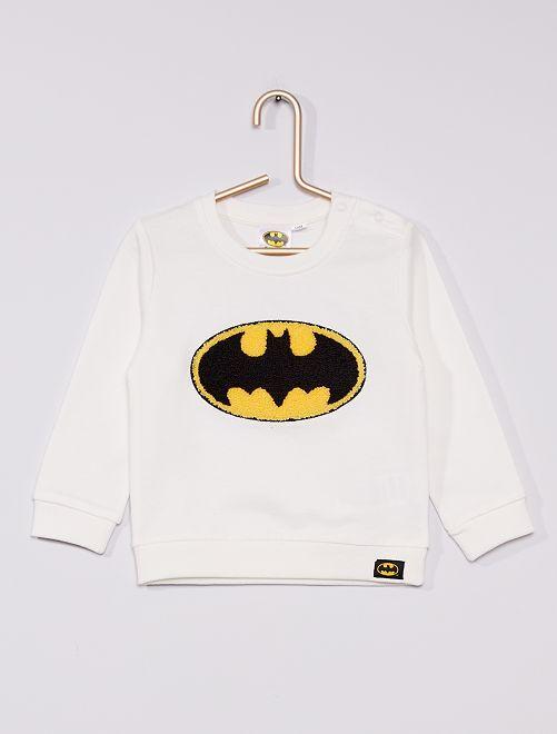 Felpa in tessuto felpato 'Batman' 'DC Comics'                             bianco neve