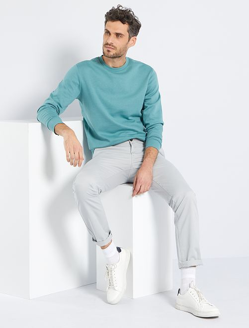 Felpa in tessuto felpato eco-sostenibile                                                                                                     blu