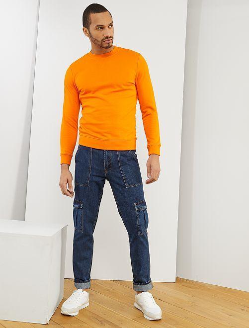 Felpa in tessuto felpato leggero eco-sostenibile                     arancio