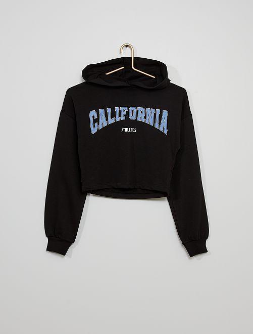 Felpa leggera stampa 'California'                                         nero