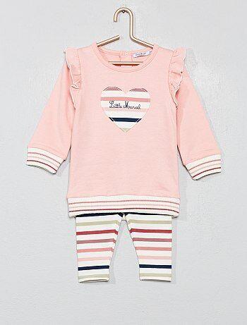 Felpa + leggings 'Little Marcel' - Kiabi