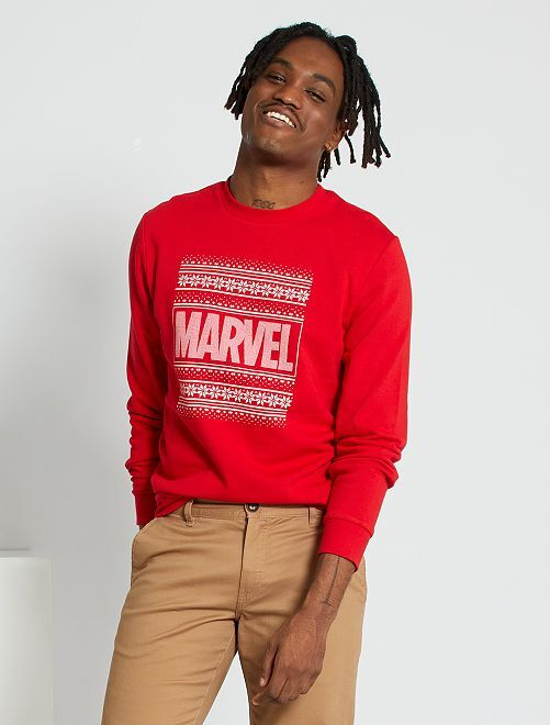 Felpa natalizia 'Marvel'                             ROSSO