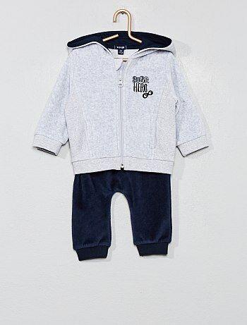 Felpa + pantaloni tuta velluto - Kiabi