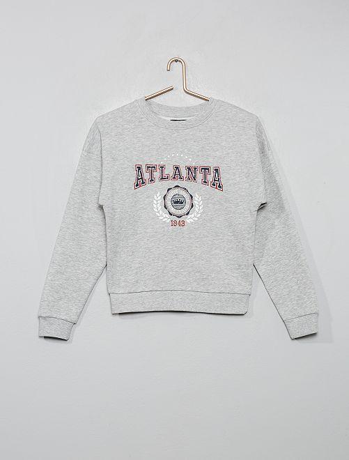 Felpa stampa 'Atlanta'                                                                                                     GRIGIO
