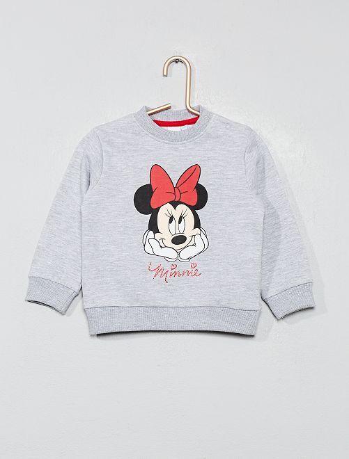 Felpa stampa 'Minnie'                             grigio Neonata