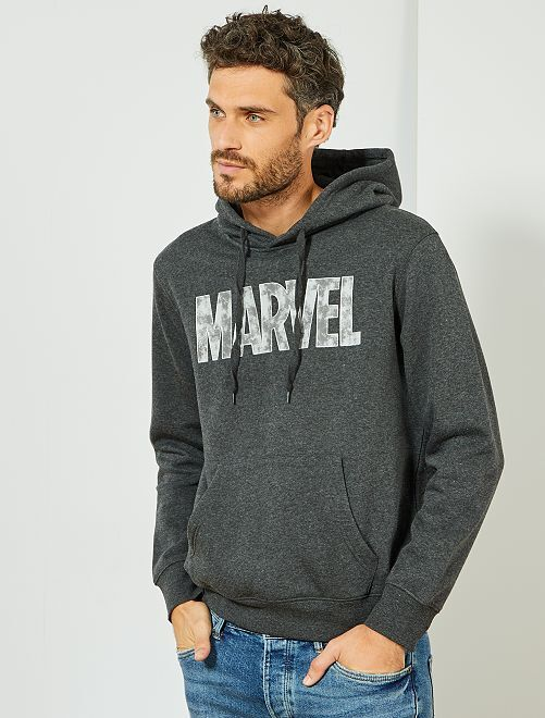 Felpa tessuto felpato 'Marvel'                                         GRIGIO