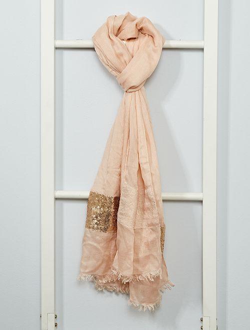 Foulard con lustrini                                         rosa