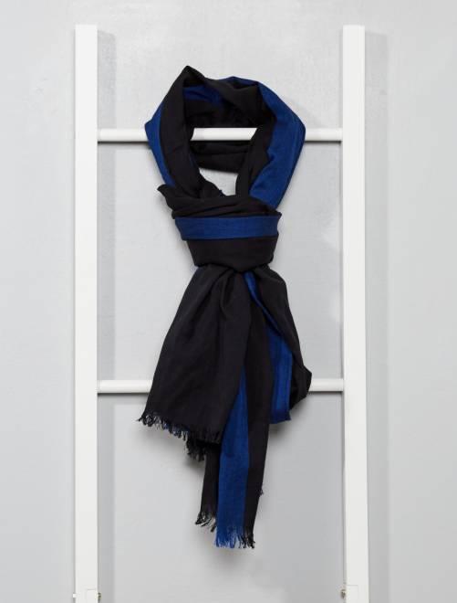 Foulard cotone bicolore                                         nero Uomo