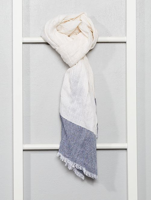 Foulard cotone                             blu