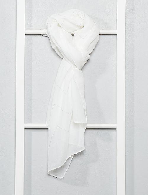 Foulard fluido luccicante                             bianco Donna