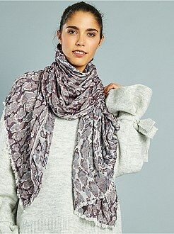 Foulard, sciarpe - Foulard fluido stampato