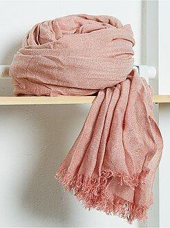 Foulard, sciarpe - Foulard fluido tinta unita con frange